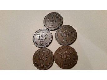 5 st 5 öre 1896-1900 - Eslöv - 5 st 5 öre 1896-1900 - Eslöv