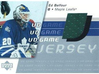 2001-02 Upper Deck Game Jerseys #GJEB Ed Belfour - Kalmar / Sweden - 2001-02 Upper Deck Game Jerseys #GJEB Ed Belfour - Kalmar / Sweden