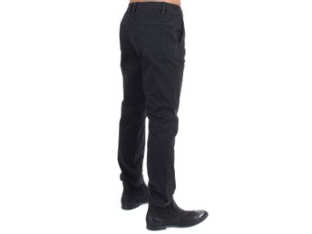 Costume National - Black cotton stretch casual pants
