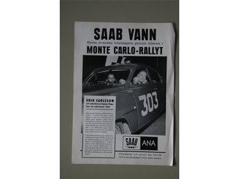 Saab vann Monte Carlo-rallyt poster i A3-format