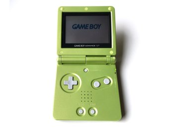 GameBoy Advance SP Lime Green (grön). Ovanlig. AGS-001. Begagnad