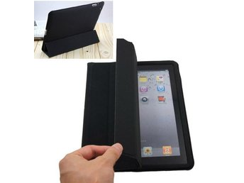 NY! iPad 2/3/4 Magnetic fodral Cover w/ Back Case Svart