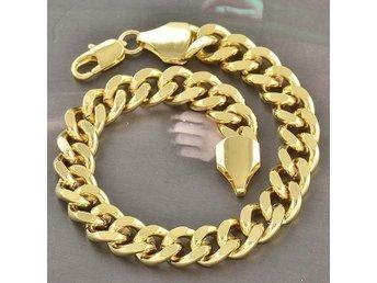 220 x 9 mm 18K äkta guld Fylld Armband - Halmstad - 220 x 9 mm 18K äkta guld Fylld Armband - Halmstad