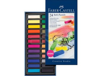 Faber-Castell - Soft pastel crayons mini, box of 24 (128224)