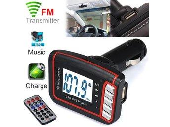 LCD Car MP3 MP4 Player Wireless FM Transmitter Modulator SD/ MMC Card w/ Remote - Hörby - LCD Car MP3 MP4 Player Wireless FM Transmitter Modulator SD/ MMC Card w/ Remote - Hörby
