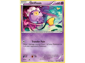 Pokémonkort: Drifloon [Steam Siege] 46/114