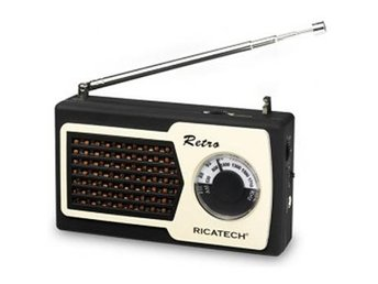 Ricatech PR22 Compact Retro Radio / Black