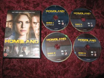 HOMELAND SÄSONG 3 (CLAIRE DANES,DAMIAN LEWIS,MANDY PATINKIN) 4-DISC DVD