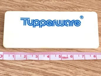 Tupperware original namnbricka
