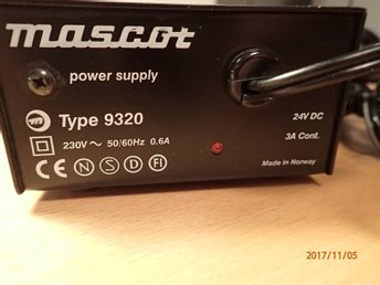 Mascot - Power supply 9320,3A - 70 W max out • 230 VAC input