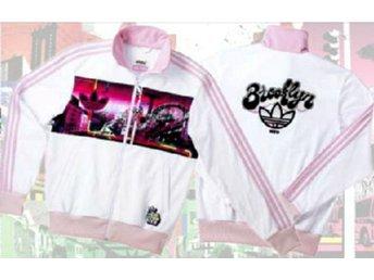 Adidas jacka tröja VINTAGE NY city Brooklyn BillMcmullen P6 Adicolor pink series