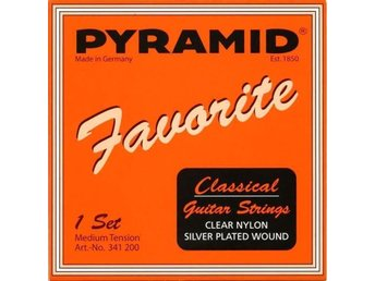 Gitarrsträngar Pyramid Favorite Classical Nylon Medium Tension .028-.046