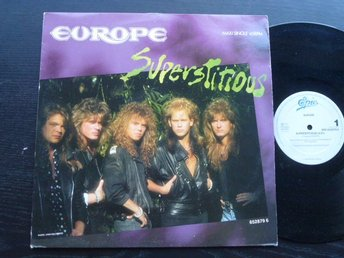 "EUROPE - Superstitious  12""  CBS Holland -88"