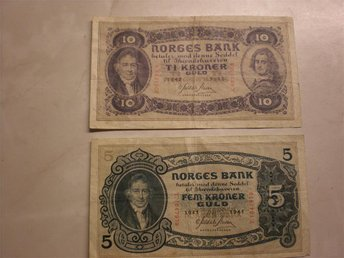 10 Kronor Norge 1942 5 Kronor Norge 1941