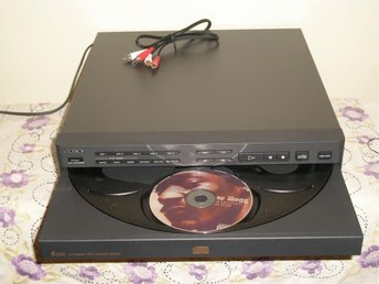 90-tal SONY CDP-C311M MULTI COMPACT DISC PLAYER 5 CD CAROUSEL VEXLARE