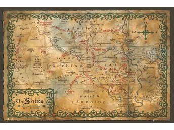 The Hobbit - Map of the Shire