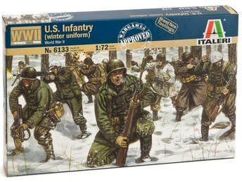 WWII US INFANTRY WINTER    Italeri  1/72 Byggsats