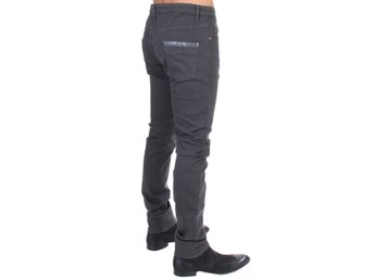 Costume National - Gray cotton stretch slim fit jeans
