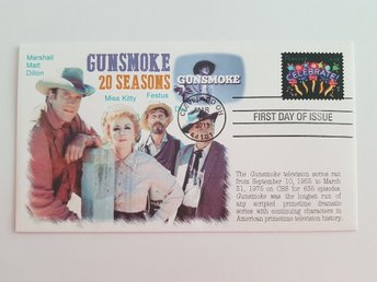 WESTERN GUNSMOKE FIRST DAY OF ISSUE * RARE* CLEVELAND OHIO