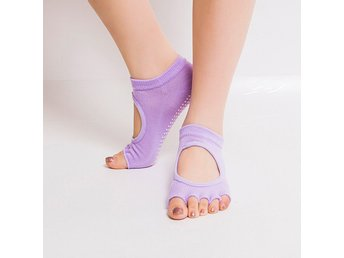 Yoga Sockar / Strumpor/Gym Sports Non-Slip 5-Toe Socks-Ljuslila