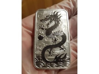 Silvertacka Dragons silver 2018 / 31 gram (1oz) Perth mint 999 silver