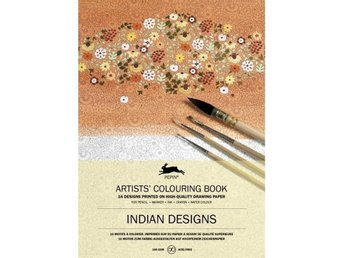Målarbok, Artists' Colouring Book - Indian Designs