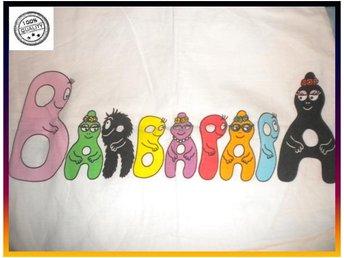 Barbapapa örngott med figurerna formade till bokstäver utmärkt skick - Västra Frölunda - Barbapapa örngott med figurerna formade till bokstäver utmärkt skick - Västra Frölunda