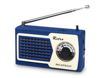 Ricatech PR22 Compact Retro Radio / Blue