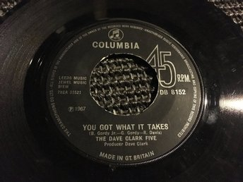 SI DAVE CLARK FIVE YOU GOT WHAT IT TAKES SITTIN HERE BABY COLUMBIA UK 1967