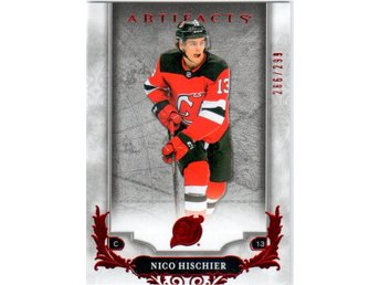 2018-19 Artifacts 7 Nico Hischier New Jersey Devils Ruby 266/299