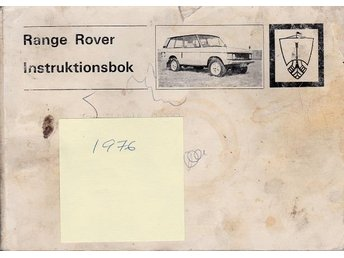 Rangerover 1976 instruktionsbok - Lomma - Rangerover 1976 instruktionsbok - Lomma