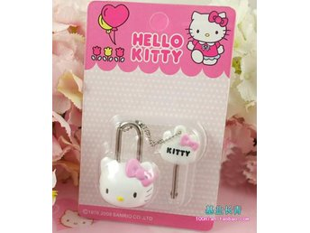 Hello kitty Nyckel & lås Key & lock set Ny i box