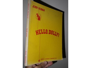 Hello Dolly (Vocal Score) Noter Notbok Musikal Sång Piano
