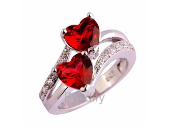 Ring Heart Cut Gemstone Silver Ring Strlk 7 (US size) - Dongguan - Ring Heart Cut Gemstone Silver Ring Strlk 7 (US size) - Dongguan