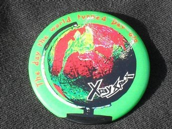 X-RAY SPEX - Day-Glo STOR Button-Badge / Pin / Knapp (Punk, 1977, Sex Pistols,)