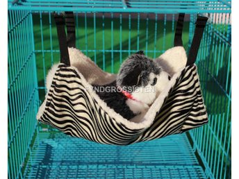 Hängmatta för Katter Cat Kitten Large Hanging Bed Zebra Fri