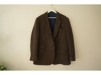 Mycket fin tweed kavaj Harris Tweed sartorial stl 56