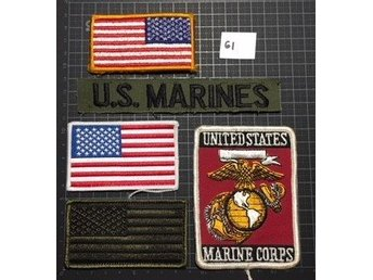 "#61 Tygmärke lot - ""US Marines"""