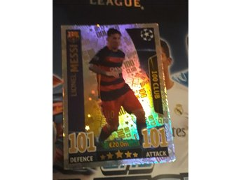 Match Attax Trading Card Game 2015/2016 Lionel Messi 100 club