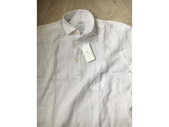Af Klercker JB cut linneskjorta storlek L - Stockholm - Af Klercker JB cut linneskjorta storlek L - Stockholm