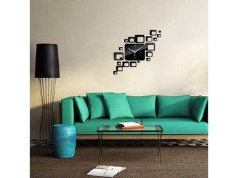heminredning modern kvarts klocka vardagsrum diy vägg klocka på