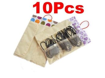 10Pcs! NY! Data cable Förvaring Storage Bag Organizer
