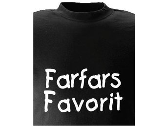 T-SHIRT Farfars Favorit nr 210  100cl 5mån-1år Svart
