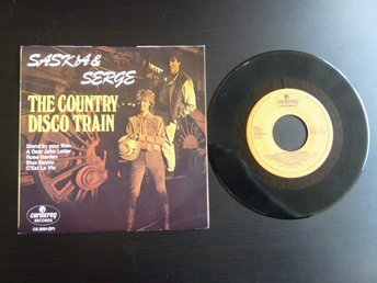 SASKIA & SERGE,  THE COUNTRY DISCO TRAIN,  MINI LP, LP-SKIVA