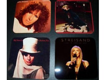 BARBRA STREISAND COASTERS - Set of 4