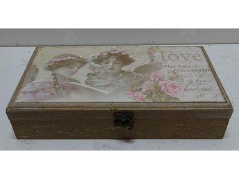 Shabby chic romantisk låda med lock - Hemse - Shabby chic romantisk låda med lock - Hemse