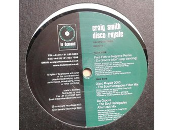 "Craig Smith title*  Disco Royale* Broken Beat, Deep House 12"" UK"