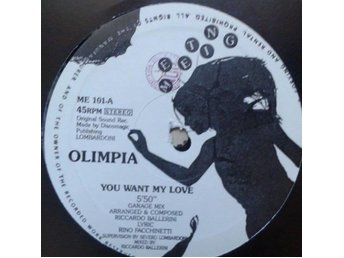 "Olimpia title*  You Want My Love* Italo House 12"" Italy"