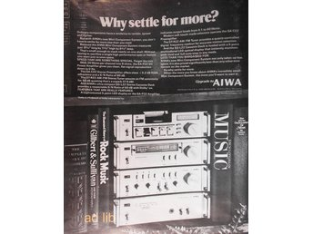 AIWA - WHY SETTLE FOR MORE, HI-FI TIDNINGSANNONS 1980