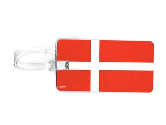 Danmarks flagga Bagagetag / Addresstag / Luggage tag
